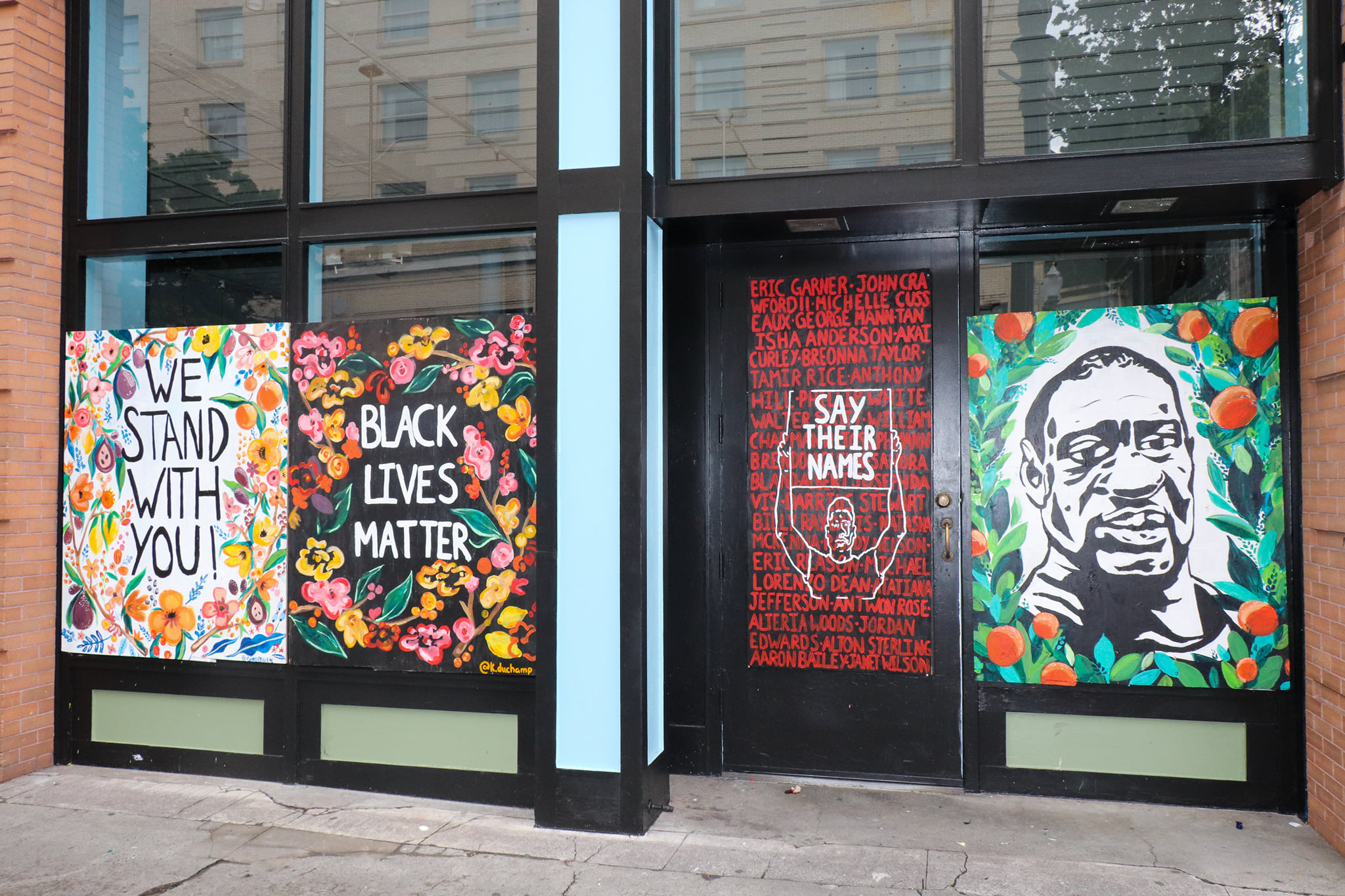 Black Lives Matter public art in Portland, Photo by Scully Media